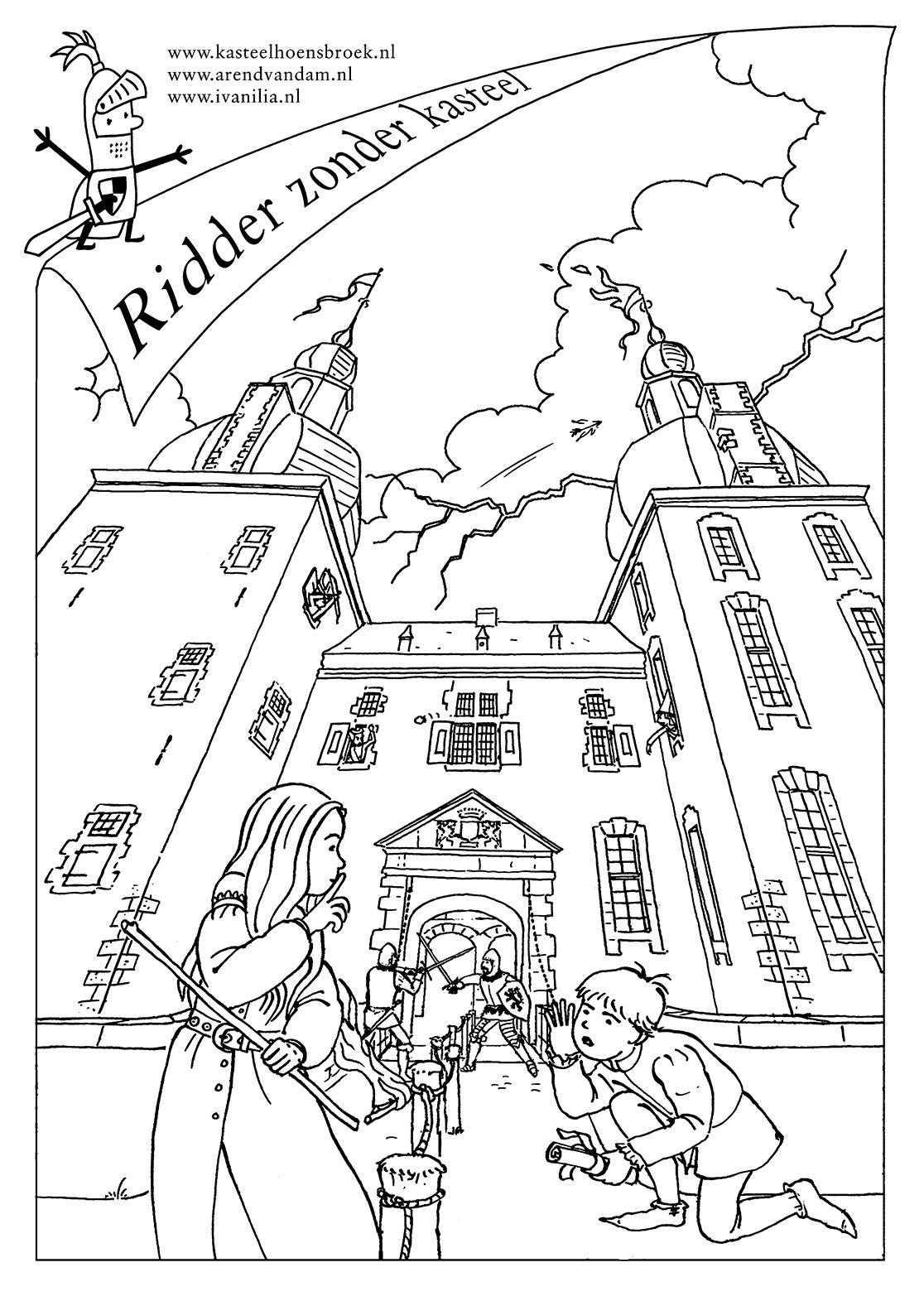 Kleurplaten Kasteel En Ridders.Kleurplaat Ridder Zonder Kasteel Ivan Ilia Illustraties